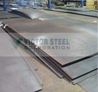 Victor Steel Corporation Warehouse-Original Photograph Of API 2W Grade 50 Offshore Steel Plates